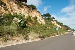 Kustweg langs de strandvoorzijde in Bournemouth, Engeland Stock Foto's