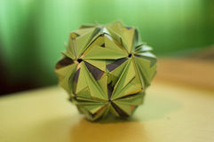 Kusudama. The art of making the origami kusudama lit. medicine ball Stock Images