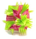 Kusudama de Origami Imagens de Stock