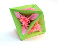 Kusudama de Origami Imagem de Stock Royalty Free