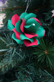 Kusudama Origami decoration in Christmas Tree Royalty Free Stock Photos