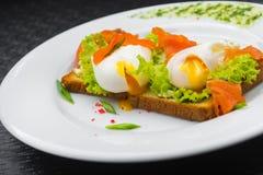 Kłusująca jajeczna i zielona sałatka Zdjęcie Royalty Free