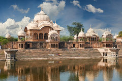 Kusum Sarovar i Mathura Uttar Pradesh, Indien arkivfoton