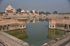 Kusum Sarovar, Mathura, la India imagen de archivo