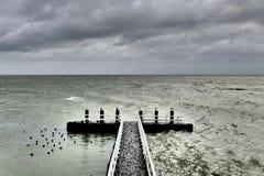 Kuszetka na Afsluitdijk Zdjęcie Stock