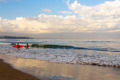 Kuta beach in Bali Indonesia Royalty Free Stock Images