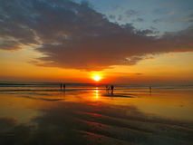 Kuta beach beautiful sunset, Bali, Indonesia Stock Photography