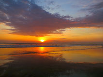 Kuta beach beautiful sunset, Bali, Indonesia Royalty Free Stock Image