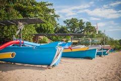 Kuta Beach boats Stock Photos