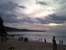 kuta beach stock image