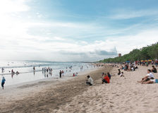 Kuta beach line, Bali, Indonesia Royalty Free Stock Photography