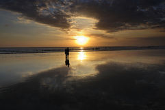 Kuta beach sunset Royalty Free Stock Image