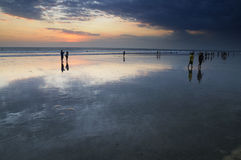 Kuta beach sunset Stock Photo