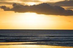 Kuta Beach sunset Royalty Free Stock Photos