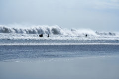 Kuta beach surf bali big waves background Stock Photos