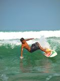 Kuta beach surfing action Royalty Free Stock Image