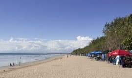 Kuta beach Bali, Indonesia. View of Kuta beach, Bali Royalty Free Stock Images