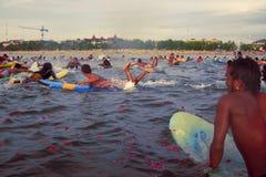 Kuta carnival 2010. Paddle for peace. Bali. royalty free stock photography