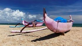 kuta kora шлюпок пляжа Стоковая Фотография