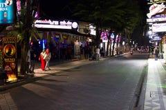 Kuta main street at night Stock Photos