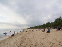 Kuta plaża i chmura, Bali wyspa Podróż w Indonezja, 12th fotografia stock