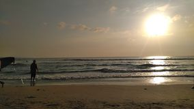 KUTA plaża BALI INDONEZJA zdjęcie royalty free