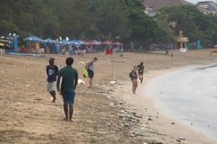Kuta strand i Bali, Indonesien royaltyfria foton