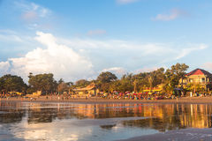 Kuta strand i Seminyak Arkivfoton