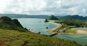 Kuta-Strand in Lombok lizenzfreies stockfoto