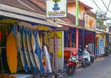 Kuta uliczni sklepy, Bali wyspa Fotografia Royalty Free