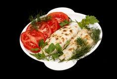 Kutaby油煎了酥皮点心充塞用葱,荷兰芹,莳萝香菜 免版税库存图片
