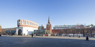 Kutafia or bridgehead tower on a sunny winter day, Russia, Moscow Kremlin,  Russia Stock Photo