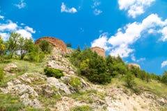 Kutahya slottväggar och bastioner royaltyfria bilder
