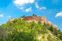 Kutahya slottväggar och bastioner arkivfoto