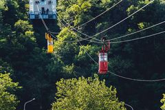 Kutaisi cableway Stock Photo