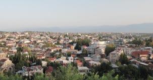 Kutaisi, Georgia Городской пейзаж в вечере осени видеоматериал