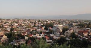 Kutaisi, Georgia Городской пейзаж в вечере осени акции видеоматериалы