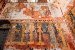 Kutaisi Georgia Medeltida Frescoes i den Gelati kloster fotografering för bildbyråer