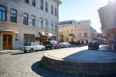 KUTAISI GRUZJA, LISTOPAD, - 22, 2016: Główna ulica Kutaisi miasteczko, kapitał zachodni region Imereti, Gruzja Obraz Royalty Free