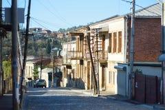 KUTAISI GRUZJA, LISTOPAD, - 22, 2016: Malownicze średniowieczne ulicy Kutaisi miasteczko, kapitał zachodni region Imereti, Geor Zdjęcie Royalty Free