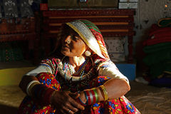 Kutch Tribal Woman Stock Image