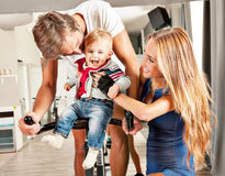 Kute baby family parent care Stock Photography