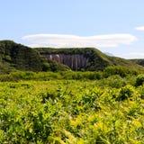 Kuthin bata, Pumice rock outcrops. Mountains in Kronotsky Reserve, Kamchatka Peninsula, Russia