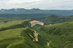 Kuthiny Baty - natural monument, bizarre pumice outcrop. South Kamchatka Nature Park. Stock Images