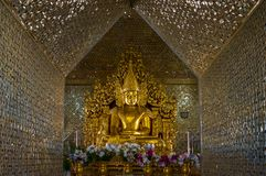 Kuthodaw塔,曼德勒,缅甸( 缅甸 免版税库存图片