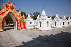 Kuthodaw pagoda Royalty Free Stock Photos
