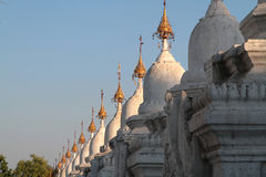 Kuthodaw pagoda in Mandalay Royalty Free Stock Images