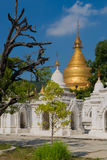 The Kuthodaw Pagoda in Mandalay, the biggest book of the world Royalty Free Stock Photos