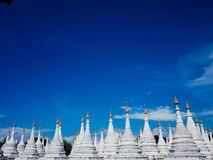 Kuthodaw Pagoda Mandalay, Myanmar stock photo