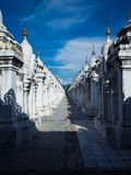 Kuthodaw Pagoda Mandalay, Myanmar royalty free stock photos